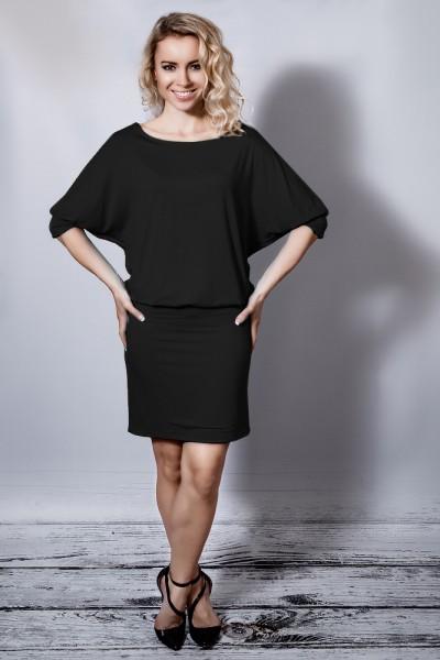 Fotografie Symetrické šaty černé