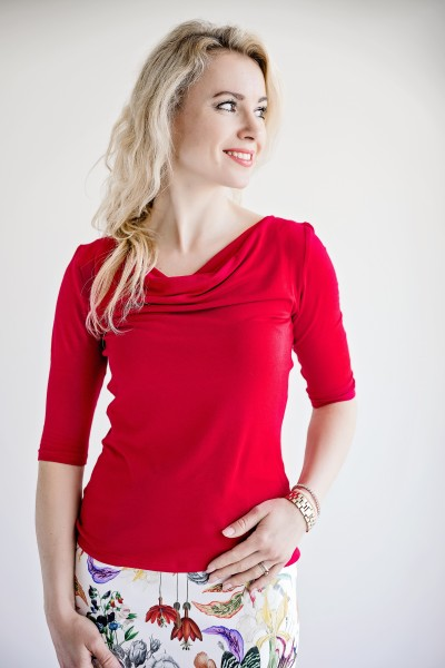 Fotografie Tričko s vodou červené